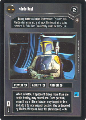Star Wars CCG Enhanced Jabba/'s Palace Jodo Kast