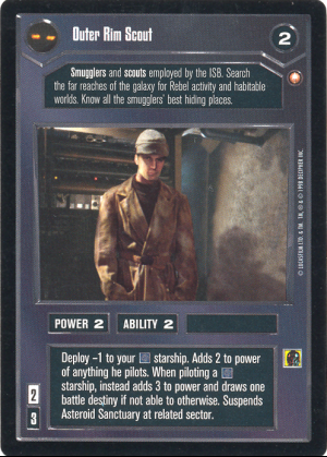 Star Wars CCG Outer Rim Scout Rare Card Collection Set Foil Reflections NM