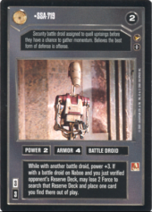 Bravo Leader Star Wars CCG Theed Palace Rare Ric Olie